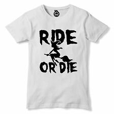 Ride or Die Funny Witch Tshirt Hocus Horror Film Movie Outfit Fancy Dress 335