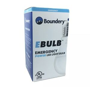 Boundery EBULB Emergency Power Rechargeable LED Light Bulb 9W / 60W Outage NEW!!