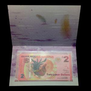 In Folder, Silver Reserve Australia 2 Lunar Dollars, 2017, UNC>Rooster