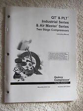 2001 QUINCY AIR MASTER & INDUSTRIAL SERIES 2 STAGE COMPRESSOR INSTRUCTION MANUAL