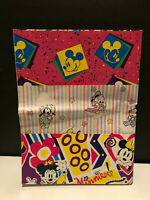 """Vtg Mickey Minnie Pluto Donald Gift Wrapping New 3 sheets/3 Designs ea 2'-6"""""""