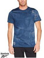 Mens Reebok Combat SPRA Dye Crew Neck T-Shirt (BQ5789) - Large/Smoky Indigo