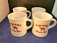 4 Vintage Camel Cigarette Coffee Diner Mug Advertising Promo Cup Genuine Taste