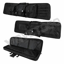 "VISM NcSTAR Tactical 46"" Padded Double Carbine Rifle Weapons Gun Case Bag Black"