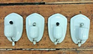 Antique 1930s Paulding Co Porcelain Art Deco Wall Sconce PAIR