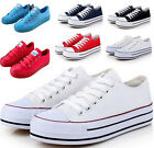 Women's College Platform Ladies Lace Up Canvas Trainers College Creeper Shoes