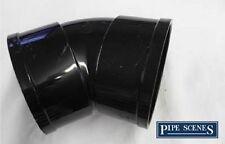 """Solvente 110mm suolo TUBO offset per la curvatura 45 ° Socket Doppio-Nero Incollato 4 """"ABS SFIATO"""