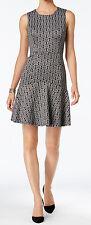 Nine West New Metallic Floral Fit & Flare Dress Size 16 MSRP $99 #JN 384