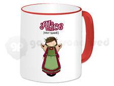 Personalised Gift Angel Mug Fairy Tale Princess Christmas Birthday Present Red#1