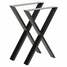 Hartley's 71x50cm Industrial Cross Table Legs - Black