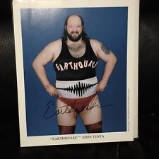 WWF WWE signed auto  Earthquake John Tenta   picture promo deceased 8x10 photo