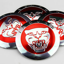 "4x 56mm 2.2"" Car Wheel Center Hub Cap Emblems Badge Decal for Red Jaguar Leopard"