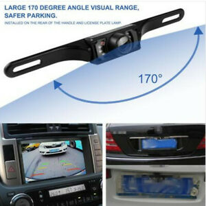 TFT LCD Display Monitor +170° 7LED License Plate Frame Reverse Parking Camera