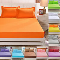 Bed Bedspread Sheet Soft Elastic Mattress Cotton Cover Twin Full Queen Size