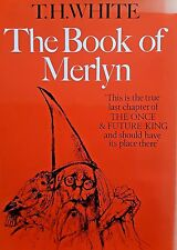 Vintage BOOK OF MERLYN Illustrated Collectable Magical Myth Enchantment Prophecy