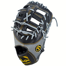 "Pro Victor Buckler Baseball PV1275FBBG 12.75"" FB RHT First Base Glove Black/Grey"