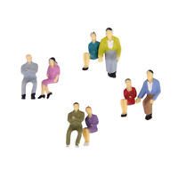 Pack of 50pcs MIxed Painted Model Train Seated People Figures 1:50 O Scale