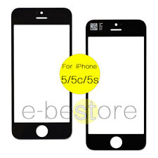 For iPhone 5 5C 5S Black Front Outer Display Touch Screen Lens Glass Replacement