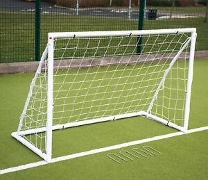 Precision junior garden goal white UK Size 8' x 6'