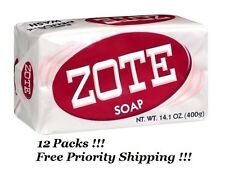 12 Pack ZOTE Pink Laundry Clothes Hand Delicate Wash Soap For Stains 14oz(400g)