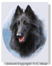 Belgian Shepherd Sheepdog Groenendael Groen Dog Headstudy OE Art Print CMOAR