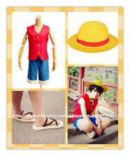 Halloween One Piece Monkey D Luffy Cosplay Costume with Hat Shoes Clothing Adult