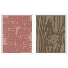 Sizzix Texture Fades Embossing Folders By Tim Holtz - 432883