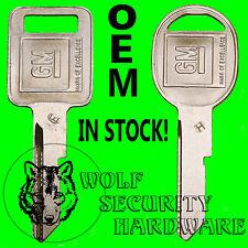 Buick Caddy Chevy GMC Olds Pontiac OEM GM Logo E&H Ignition Door Trunk Key Blank
