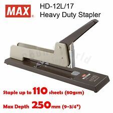 MAX HD-12L/17 Heavy Duty Stapler (Staple up to 110 pages), Made in Japan