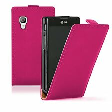 Ultra Slim PINK Leather case cover pouch for LG E460 Optimus L5 II 2 / E450
