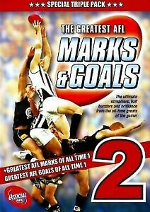 The Greatest AFL Marks & Goals 2 triple pack (3DVD) Brand new sealed, free post!