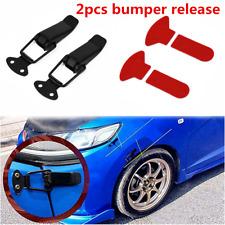 2pcs 80mm Black Car Bumper Trunk Fender Hatch Lids Quick Release Fastener Kit