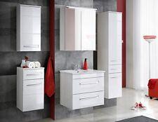 """Badmöbel Set """"ACTIVE 60 cm Weiss"""" Badezimmer mit Waschbecken Badezimmermöbel LED"""