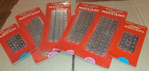 #2 & #5...6 X MECCANO SEALED/UNUSED BLISTER TRADE PACK PERFORATED STRIP ZINC