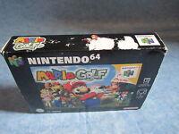 Nintendo 64 N64 Scatola,imballo ed istruzioni per SUPER MARIO GOLF No Gioco!!