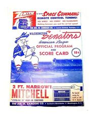 1957 Washington Senators Baltimore Orioles Baseball Program EX Ticket Ravens Ofr