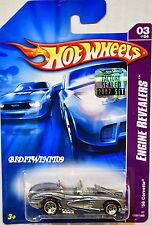 HOT WHEELS 2007 ENGINE REVEALERS '58 CORVETTE #03/04 GREY FACTORY SEALED