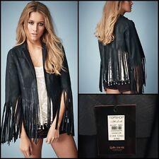 Kate Moss x Topshop Leather Jacket UK6 XS
