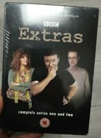Extras The Complete Series 1 & 2 2005 DVD New Sealed Ricky Gervais Merchant