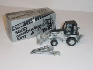 1/35 Case 580D Construction King Backhoe by Conrad W/Box! Silver Anniv Edition!