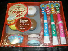 NEW Melissa & Doug Wooden Bake & Decorate Cupcake Craft Game Play Toy 25pc Set