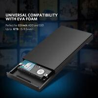 "SATA 2.5"" SDD/HDD HD Hard Drive External Enclosure Mobile Disk Case Box USB 3.0"