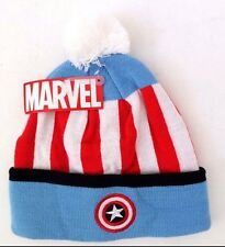 Marvel Captain America Youth - Adult Pom Character Beanie Cap Hat NWT One  Size f7eca182dce4