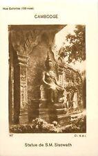 Statue de S.M. Sisowath Cambodge Cambodia Asia Colonie France IMAGE CARD 1900s