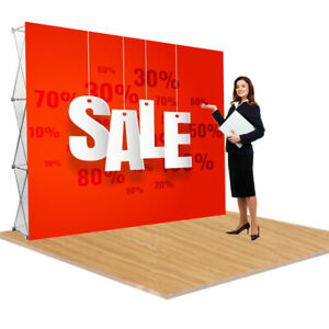 Booth Frame 8'x8' Pop Up Display Stand Aluminum Trade Show Stand (Stand ONLY)