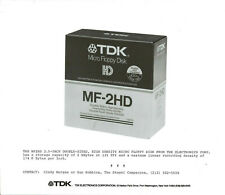 ITHistory (198X) Photo: TDK MF2HD Micro Floppy Disk 3.5 Inch (Caption)
