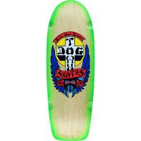 DOGTOWN - OG BULLDOG RIDER SKATEBOARD DECK - NATURAL NEON GREEN FADE - 10'' NEW