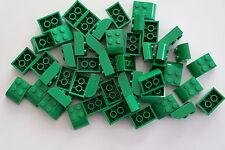 50 Lego Bausteine 2x3 abgerundet grün NEU Grundsteine Basic Steine 6215
