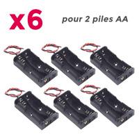 6pcs Boitier Bloc Support pour Pile 2 x AA LR06 Coupleur Battery Holder Case Lot