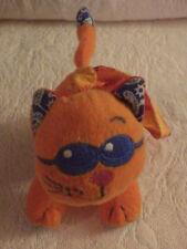 "Infantino Orange Cat Rattle Baby Crib Stroller Plush Stuffed Animal 4"" Long"
